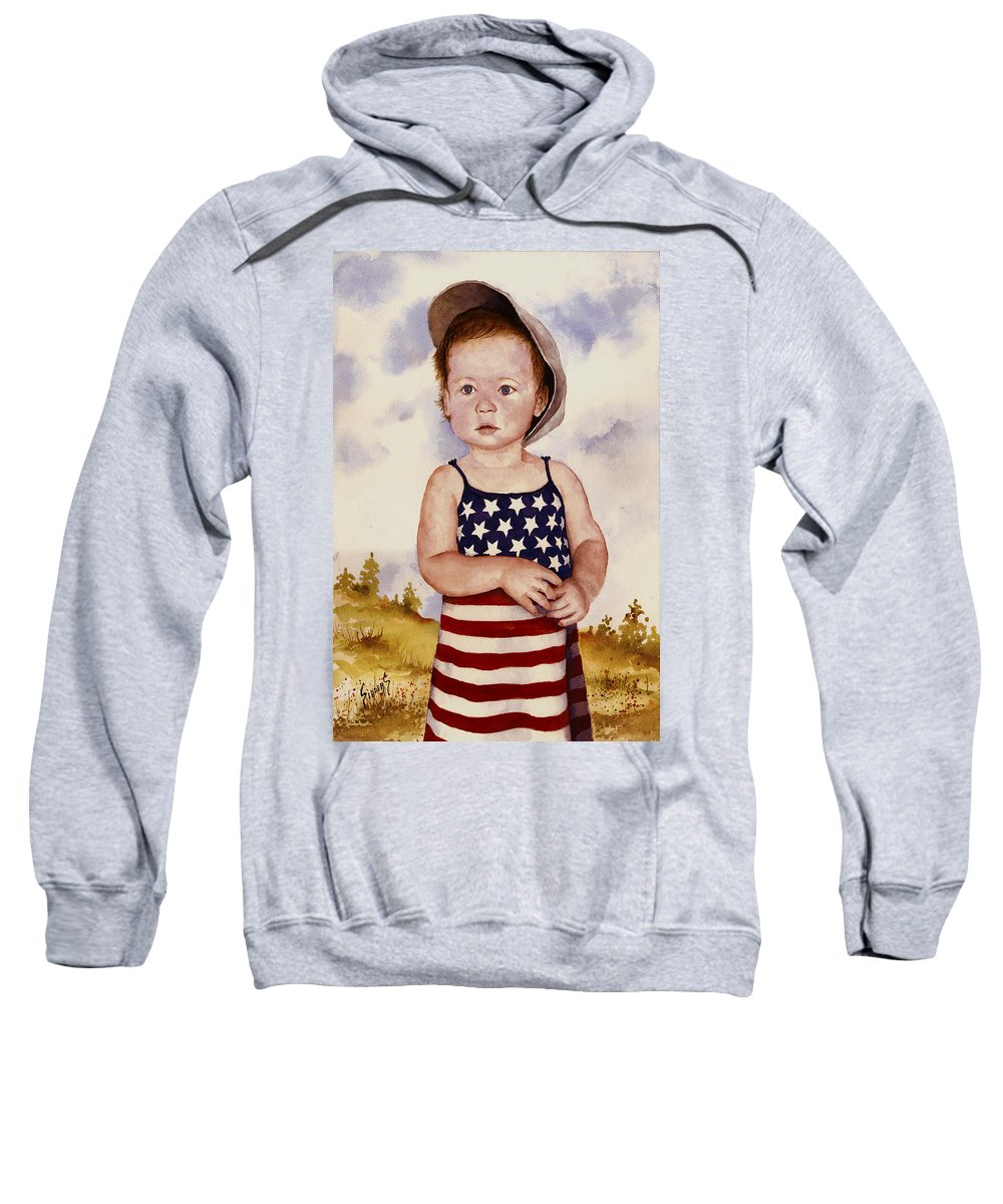 Kid Sweatshirt featuring the painting An All American Girl Named Ireland by Sam Sidders