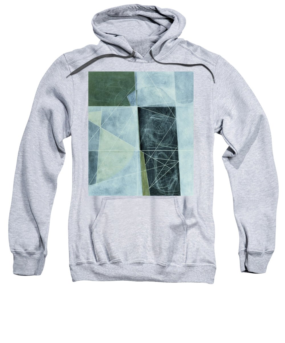 Abstract Sweatshirt featuring the photograph Ancient Landscape, 1982 Oil On Hardboard by George Dannatt