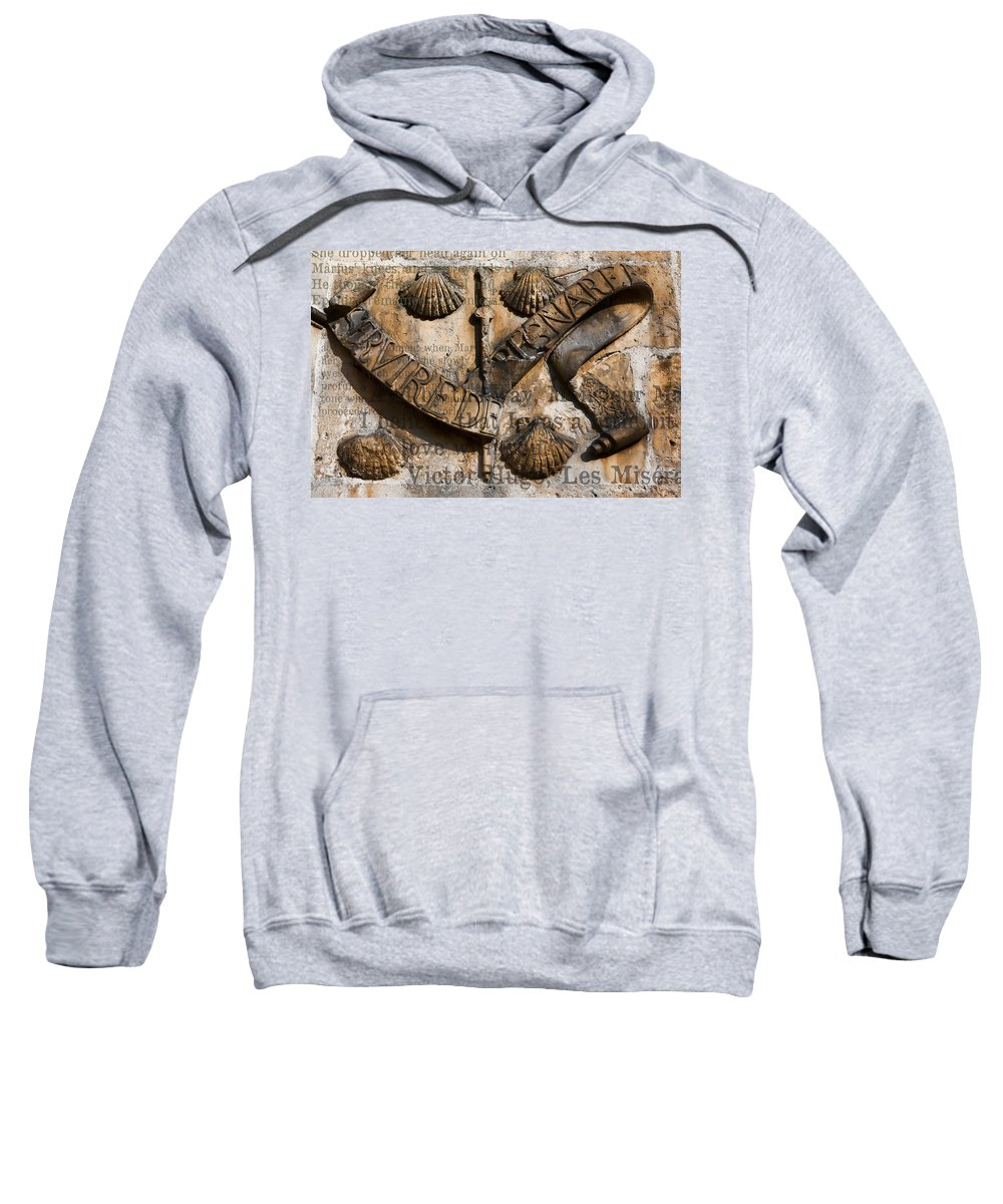 Arch Sweatshirt featuring the photograph Ancient Wall With Hugo by Evie Carrier
