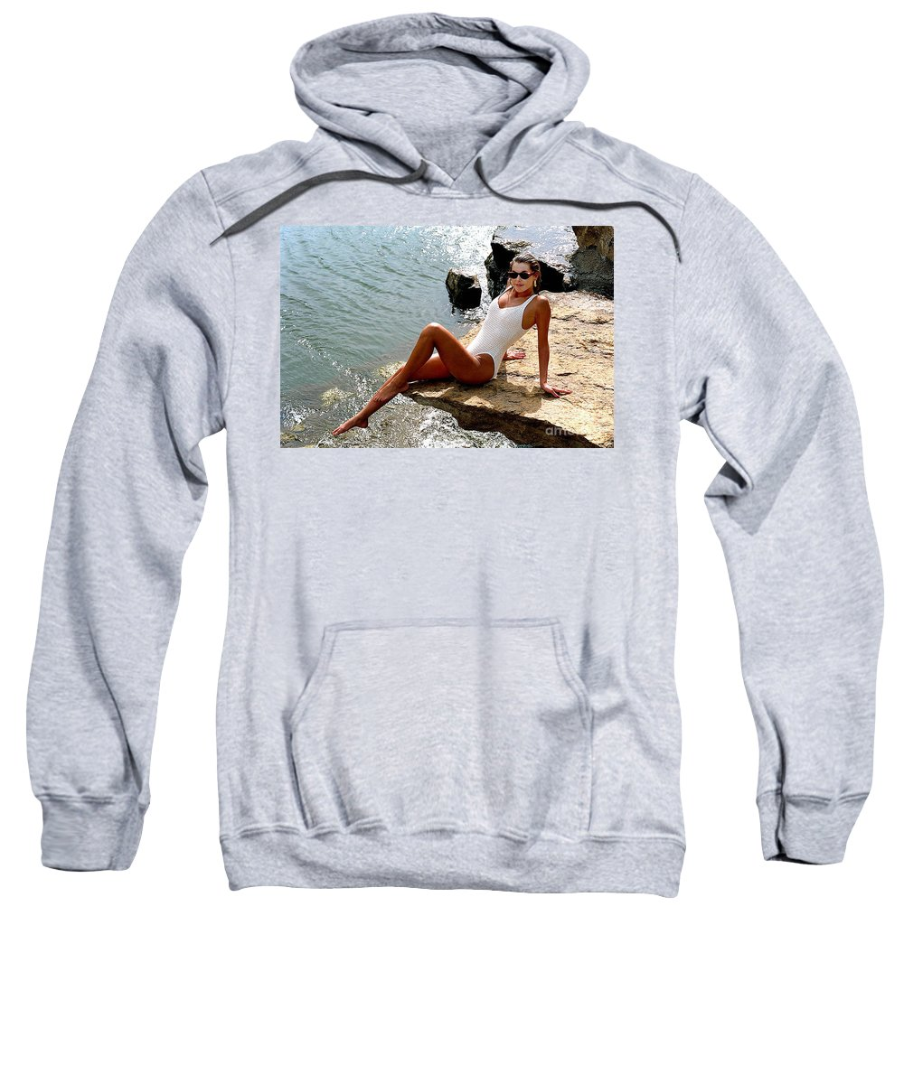 Model Sweatshirt featuring the photograph Angelawhiterock-b by Gary Gingrich Galleries