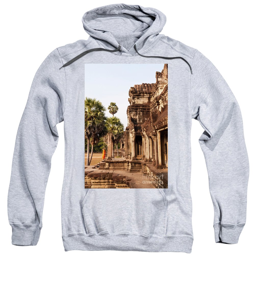 Cambodia Sweatshirt featuring the photograph Angkor Wat 01 by Rick Piper Photography