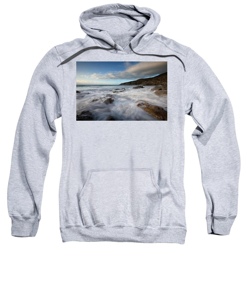 Waves Sweatshirt featuring the photograph Anglesey Tides by Beverly Cash