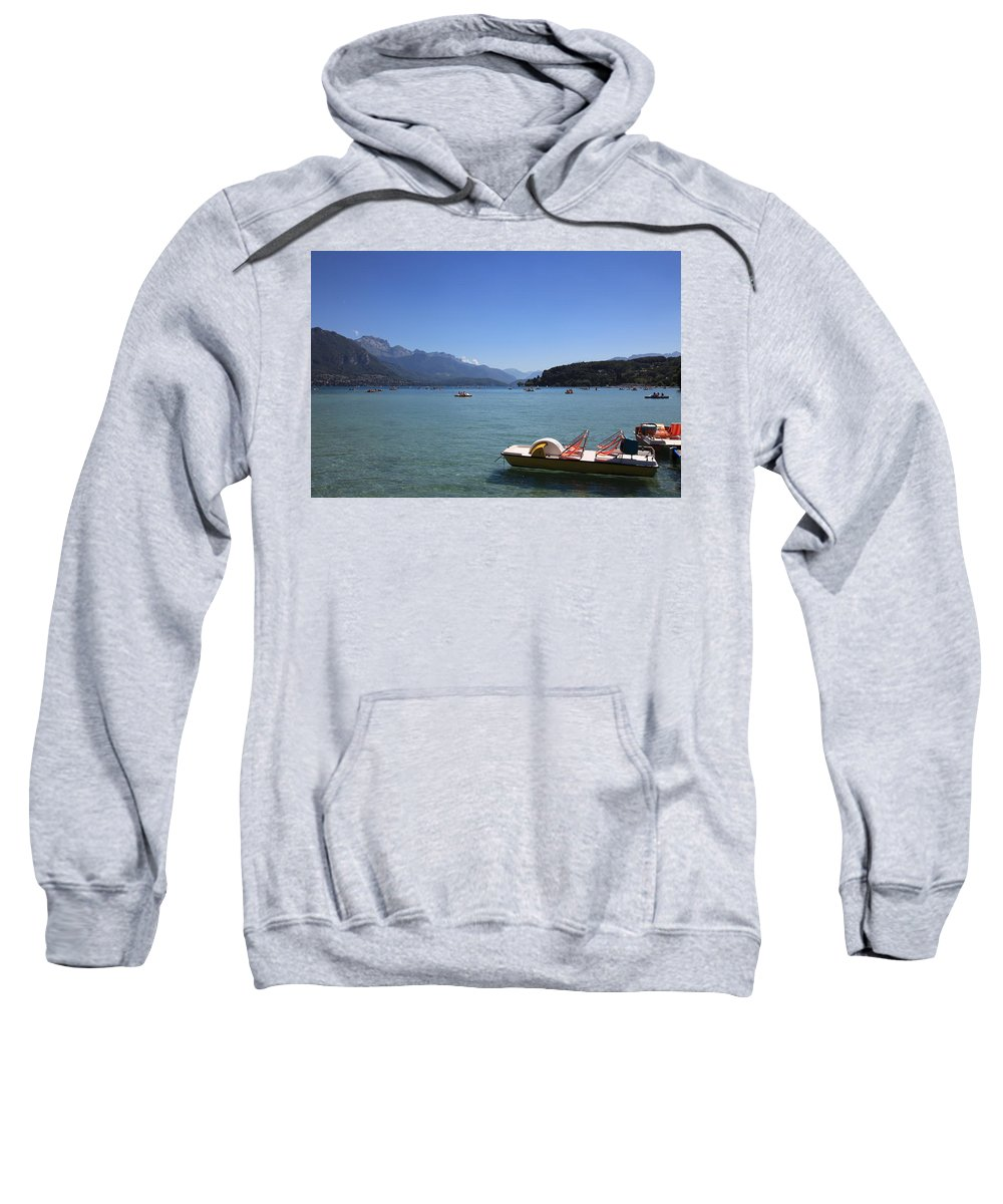 Annecy Sweatshirt featuring the photograph Annecy Lake by Francesco Scali