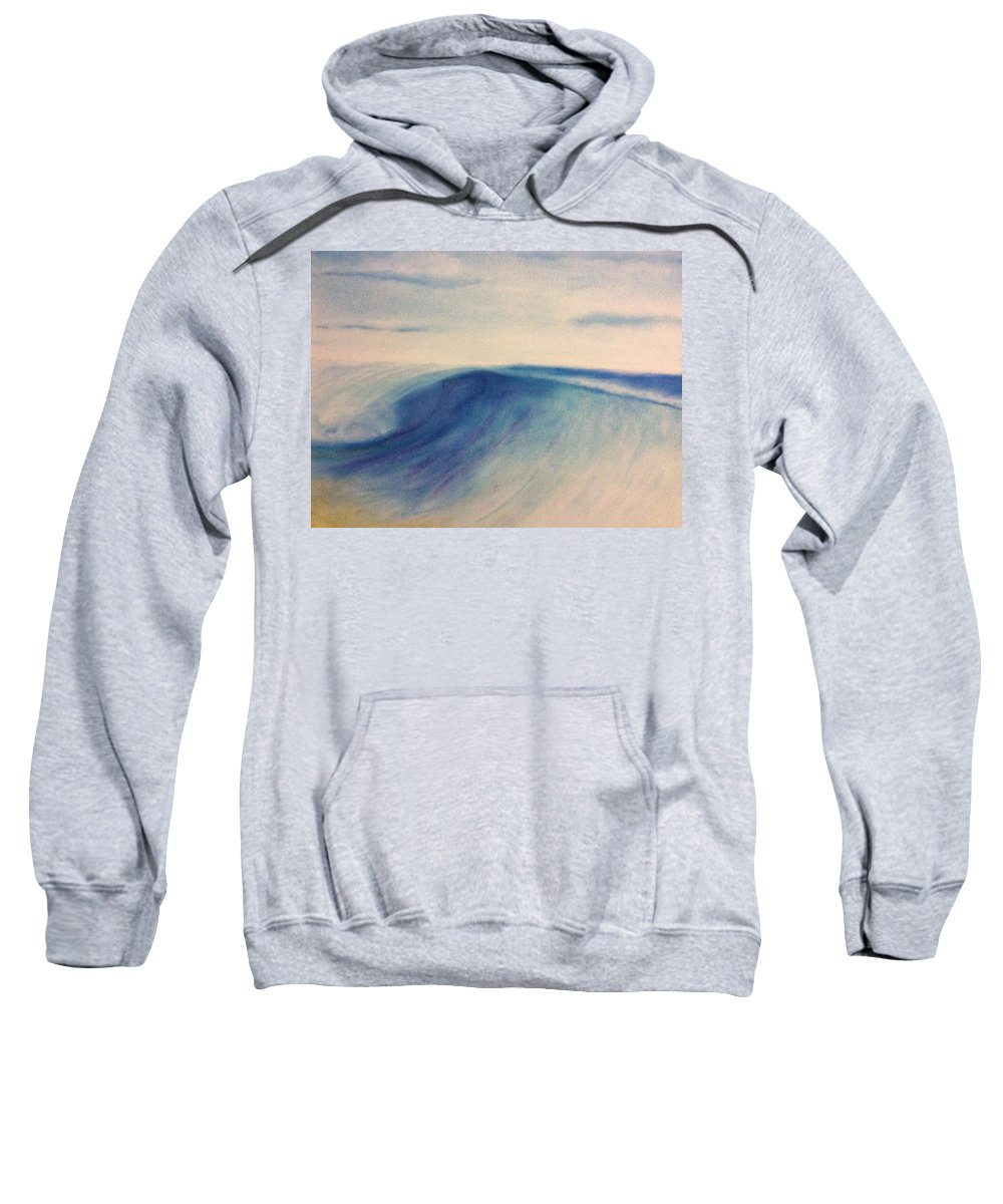 Wave Sweatshirt featuring the drawing Another Wave by Joel Watsky