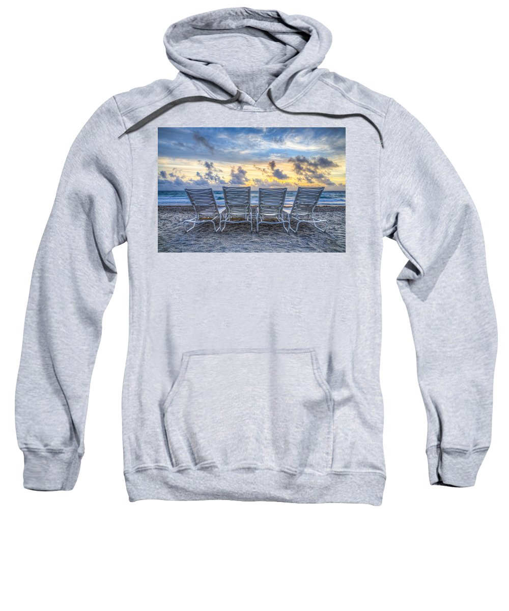 On Sweatshirt featuring the photograph Anticipation by Debra and Dave Vanderlaan