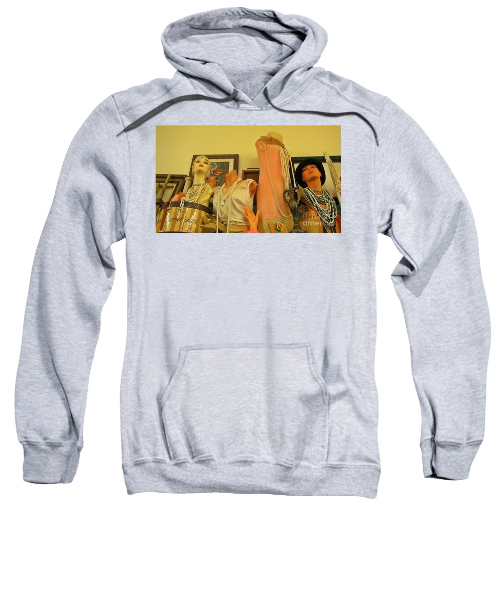 Antique Shop Display Sweatshirt featuring the photograph Antique Shop Display by John Malone