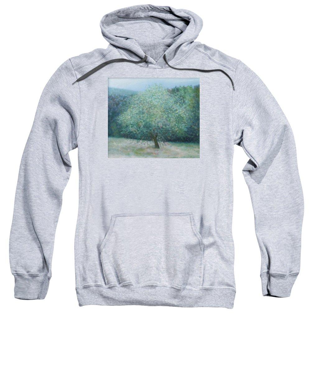 Landscape Sweatshirt featuring the painting Apple Tree by Muntean Floare