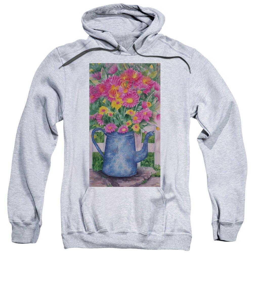 Flower Sweatshirt featuring the painting April Showers Bring by Rhonda Leonard