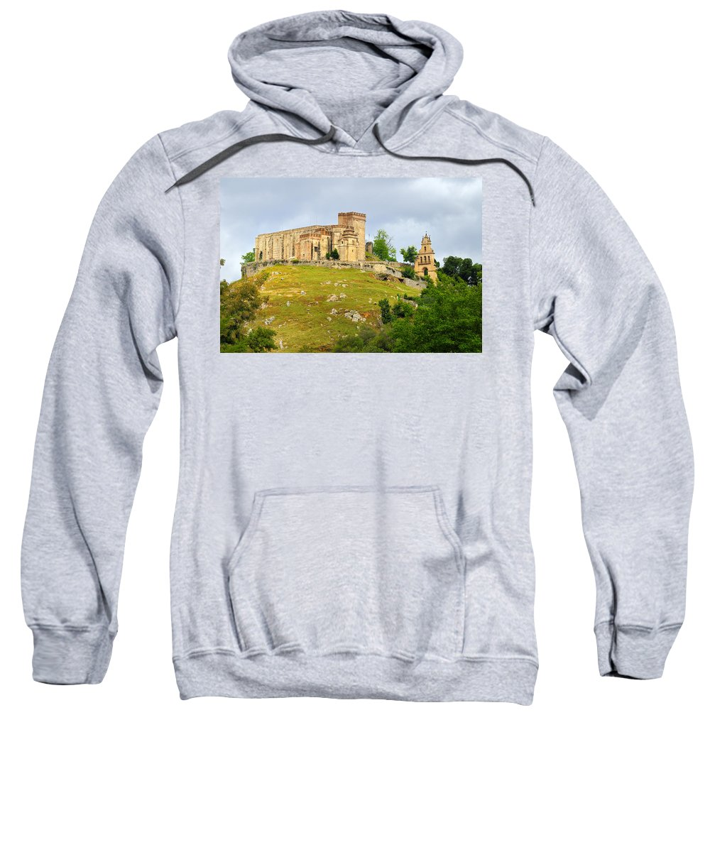 Palace Sweatshirt featuring the photograph Aracena Castle Sxiii by Guido Montanes Castillo