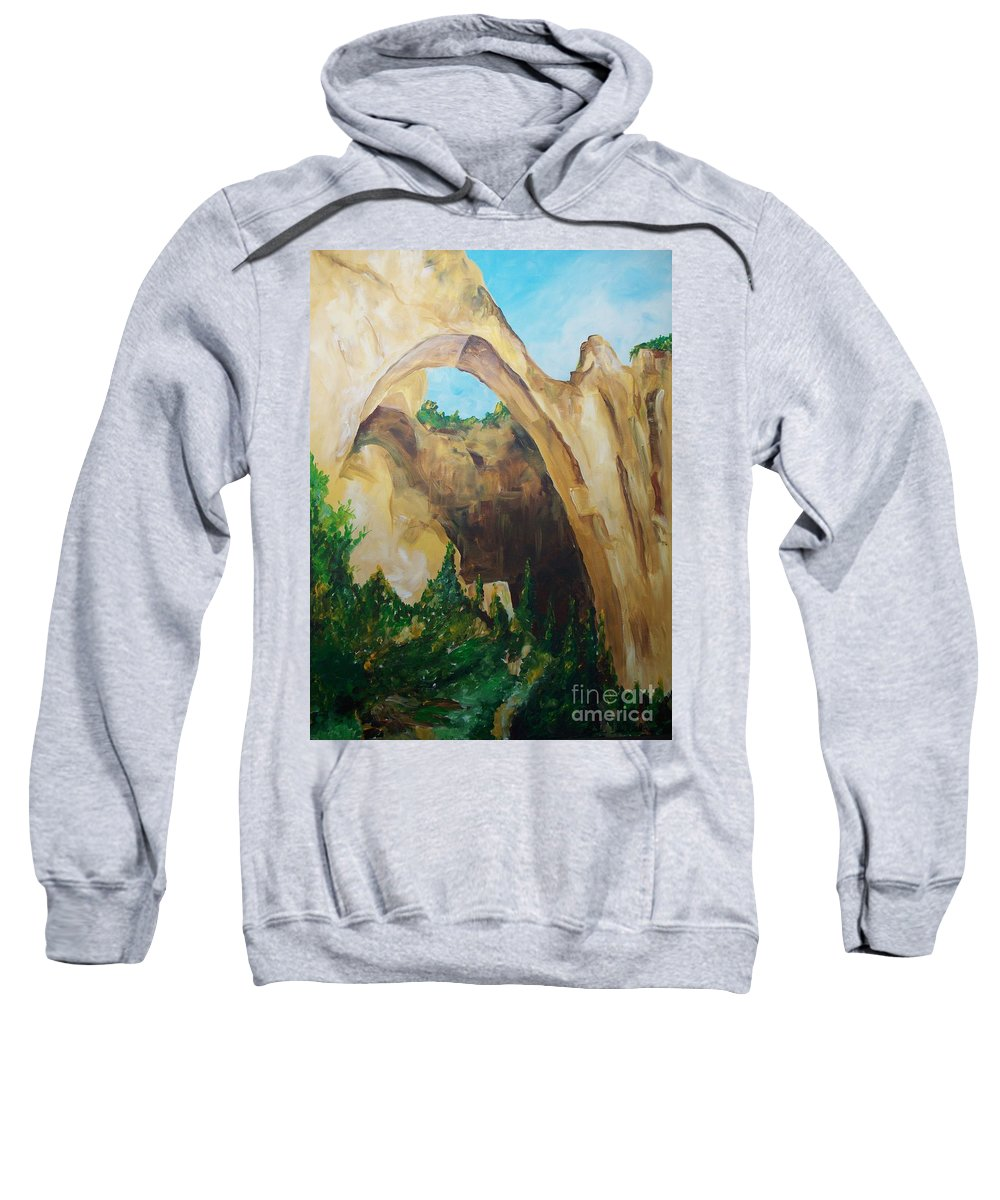 Floral Sweatshirt featuring the painting Arch by Eric Schiabor