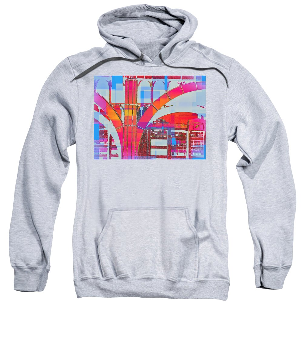 Arch Sweatshirt featuring the photograph Arch Five - Architecture Of New York City by Miriam Danar