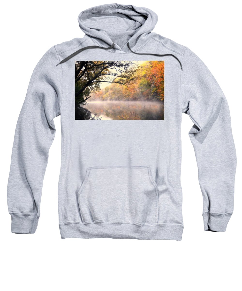Fall Sweatshirt featuring the photograph Arching Tree On The Current River by Marty Koch