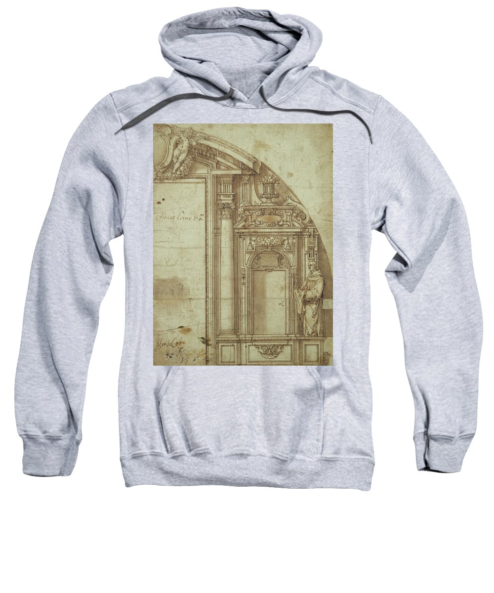 Cano Sweatshirt featuring the drawing Architectural Study by Alonso Cano