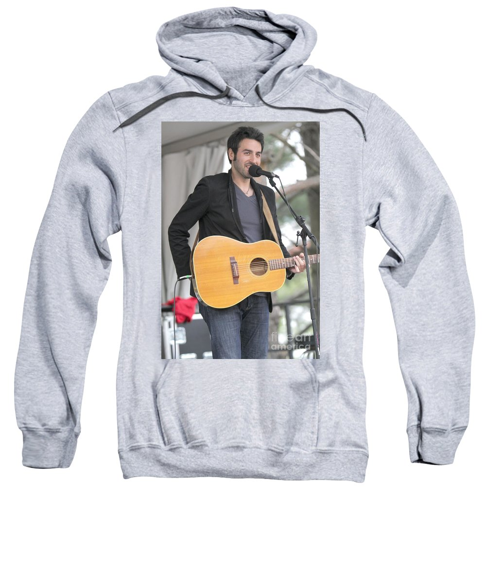 Pop Sweatshirt featuring the photograph Ari Hest by Concert Photos