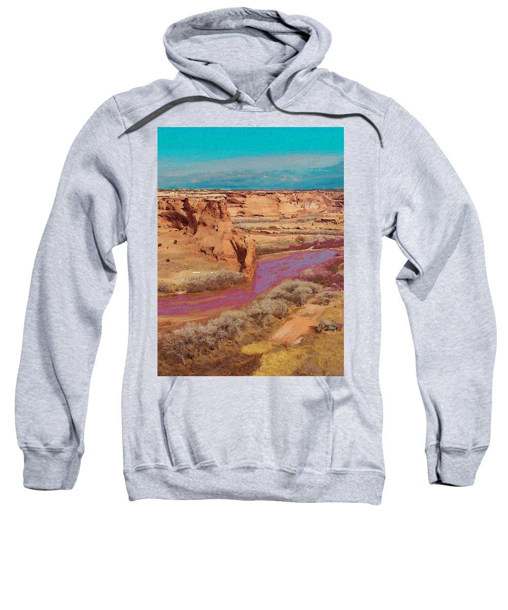 Digital Sweatshirt featuring the digital art Arizona 2 by David Hansen