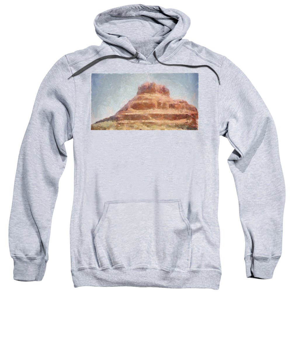 United States Of America Sweatshirt featuring the painting Arizona Mesa by Jeffrey Kolker