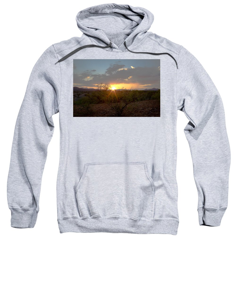Tucson Sweatshirt featuring the photograph Arizona Sunset by John Daly