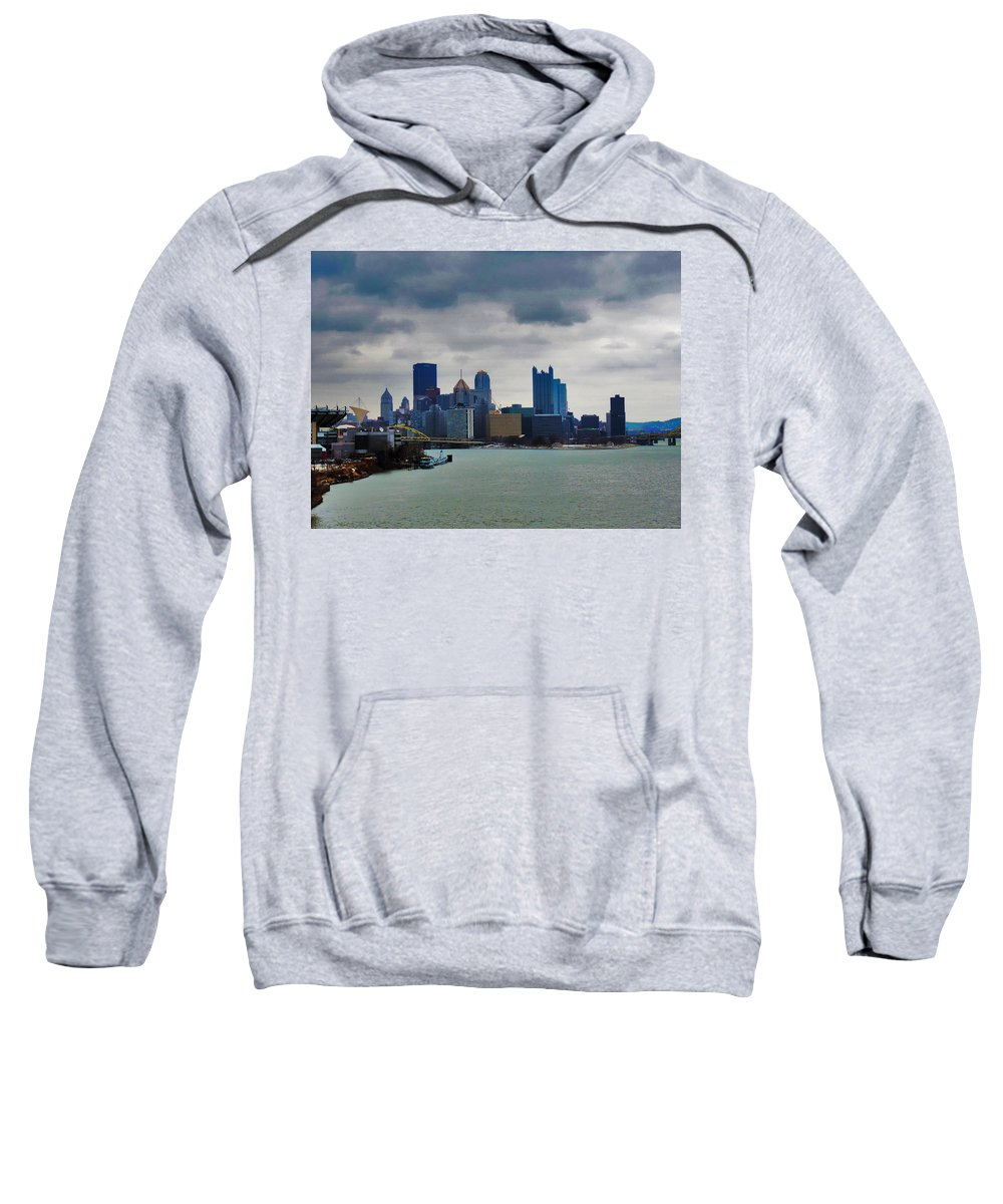City Sweatshirt featuring the photograph Artistic Pittsburgh Skyline by Cityscape Photography