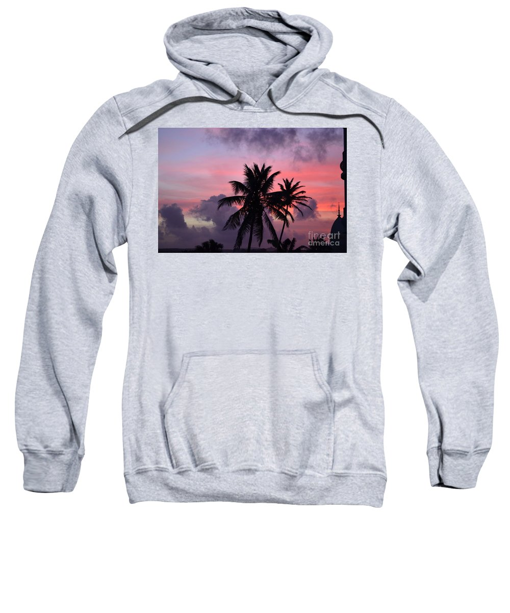 Aruba Sweatshirt featuring the photograph Aruba Sunset by DejaVu Designs