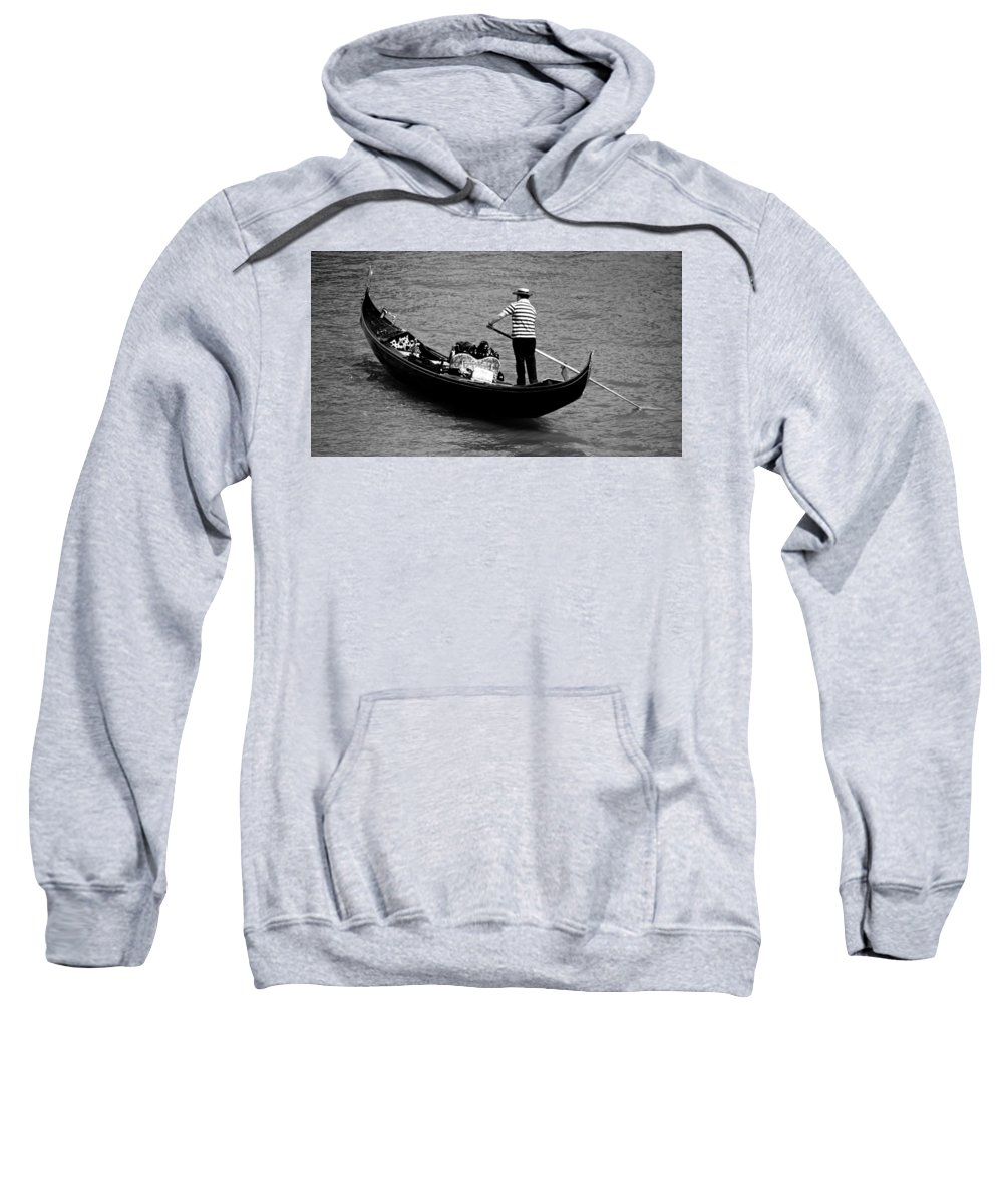 Gondola Sweatshirt featuring the photograph As Time Goes By by Eric Tressler