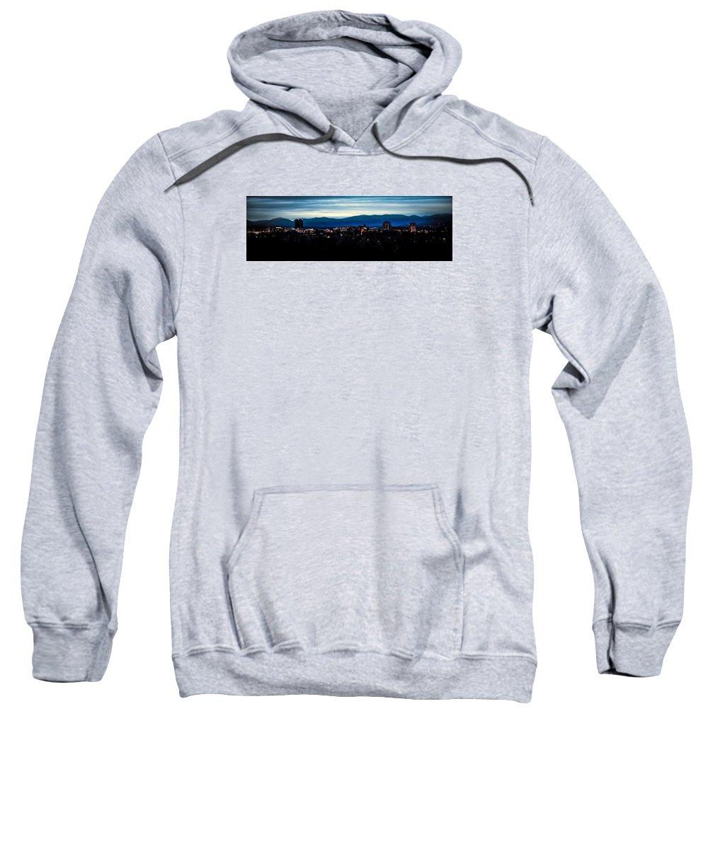 Asheville Sweatshirt featuring the photograph Asheville Skyline by Karen Wiles