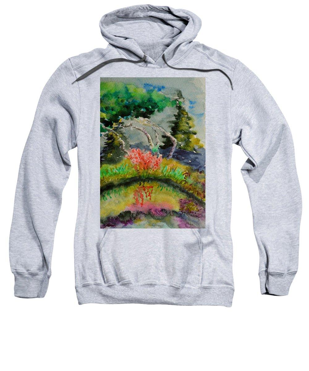 Aspens Sweatshirt featuring the painting Aspens On Acid by Beverley Harper Tinsley