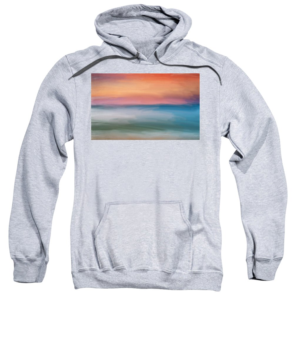 Seascapes Abstract Sweatshirt featuring the digital art Astound by Lourry Legarde