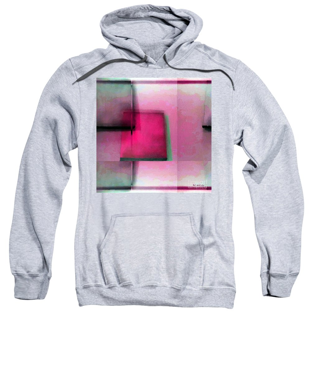 Abstract Sweatshirt featuring the painting Asymmetrical Symmetry by RC DeWinter