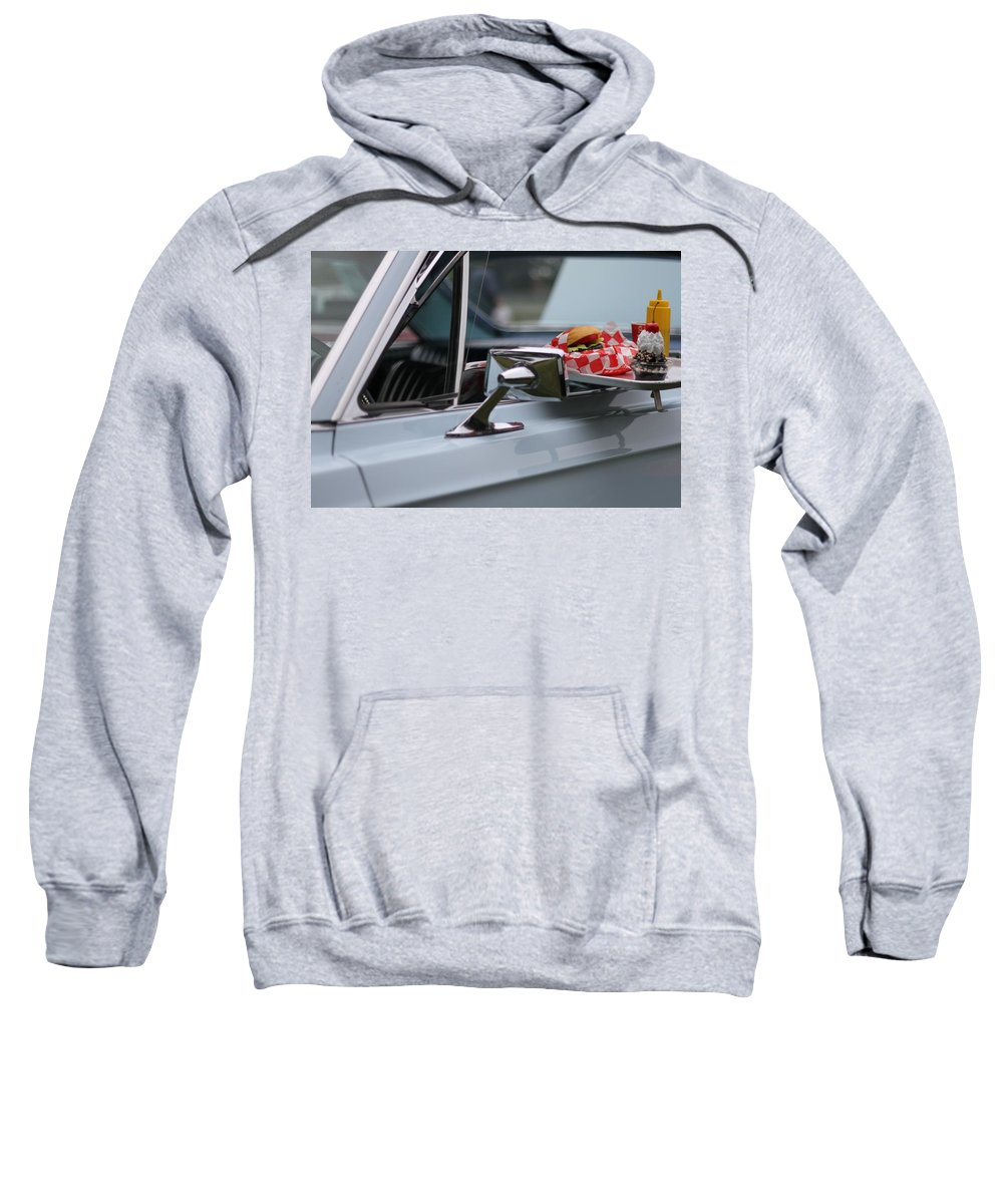Carhop Sweatshirt featuring the photograph At The Carhop by Dan Sproul