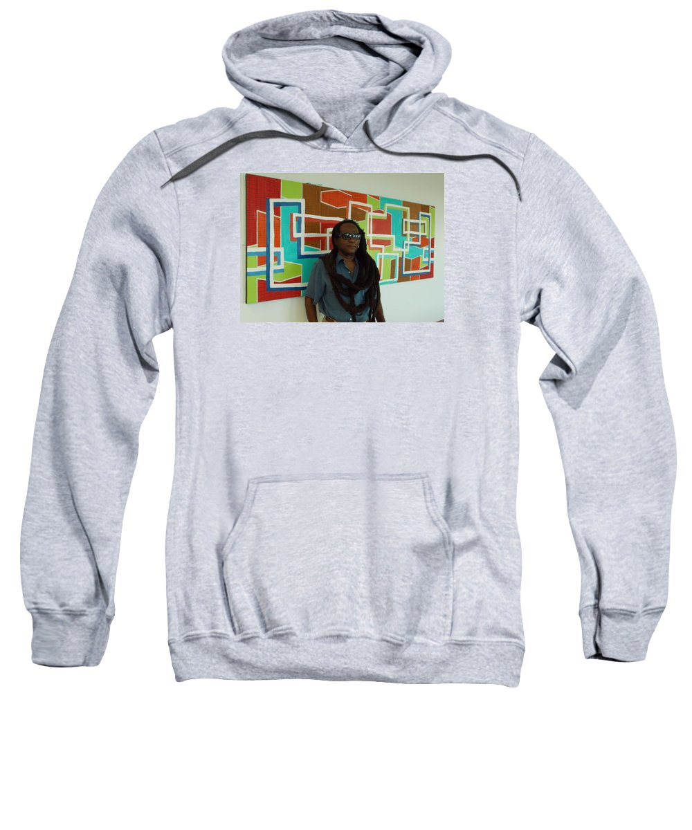 Original Artwork Sweatshirt featuring the photograph At The Retreat 4 Sale by Artist Ai