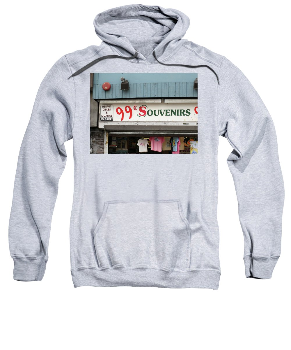 Ads Sweatshirt featuring the photograph Atlantic City New Jersey - Souvenir Store by Frank Romeo