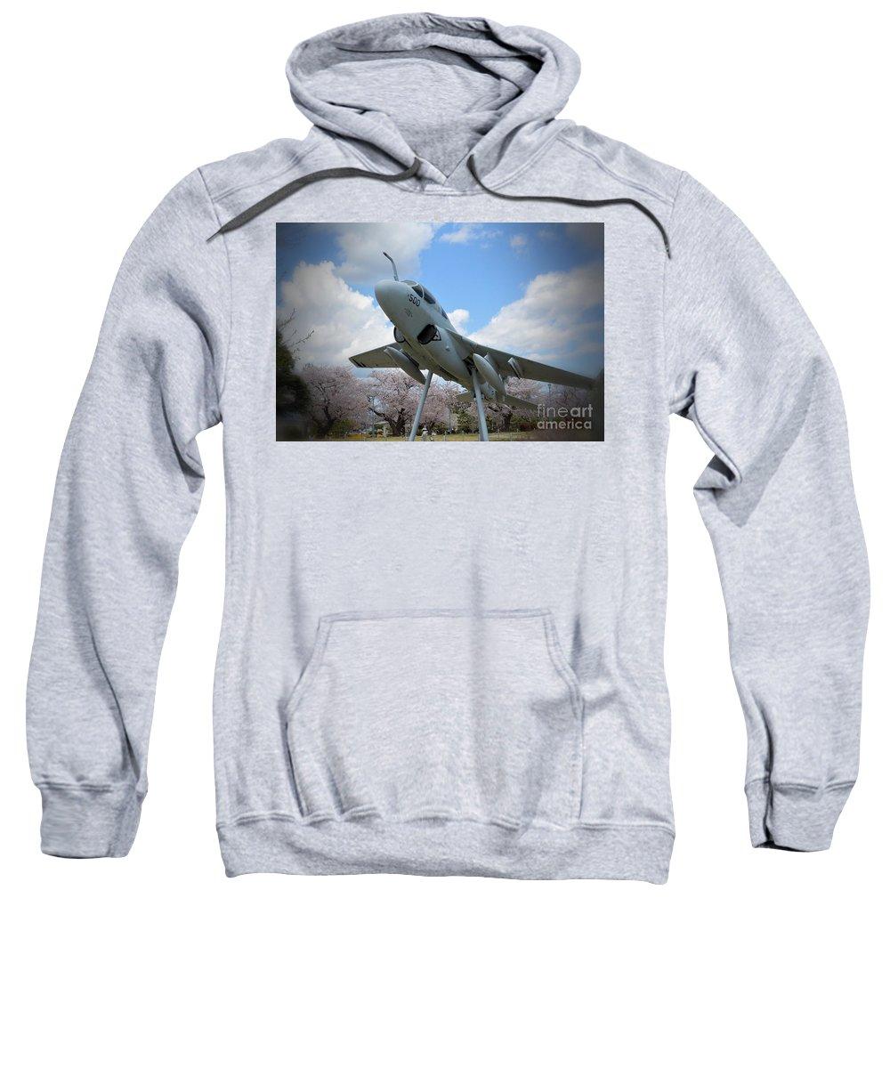 Atsugi Sweatshirt featuring the photograph Atsugi Prowler B by Jay Mann