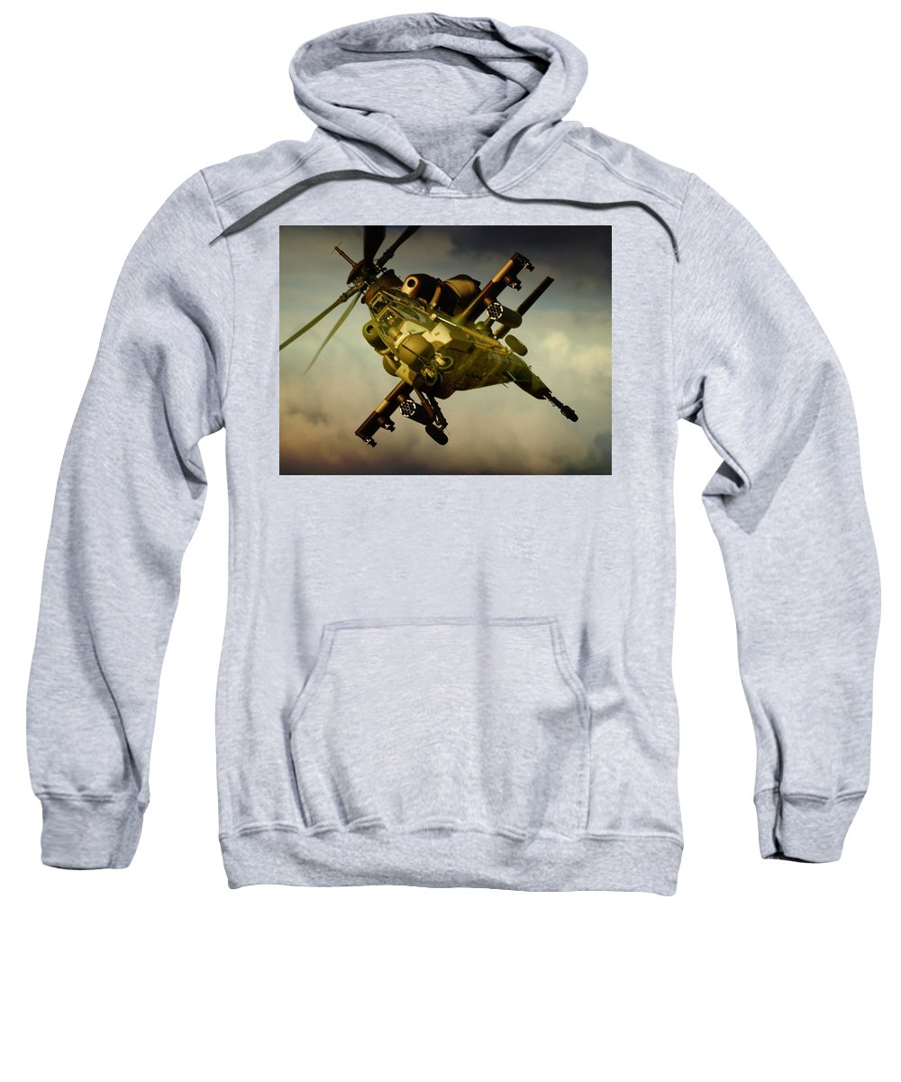 Atlas Rooivalk Sweatshirt featuring the photograph Attacking Rooivalk by Paul Job