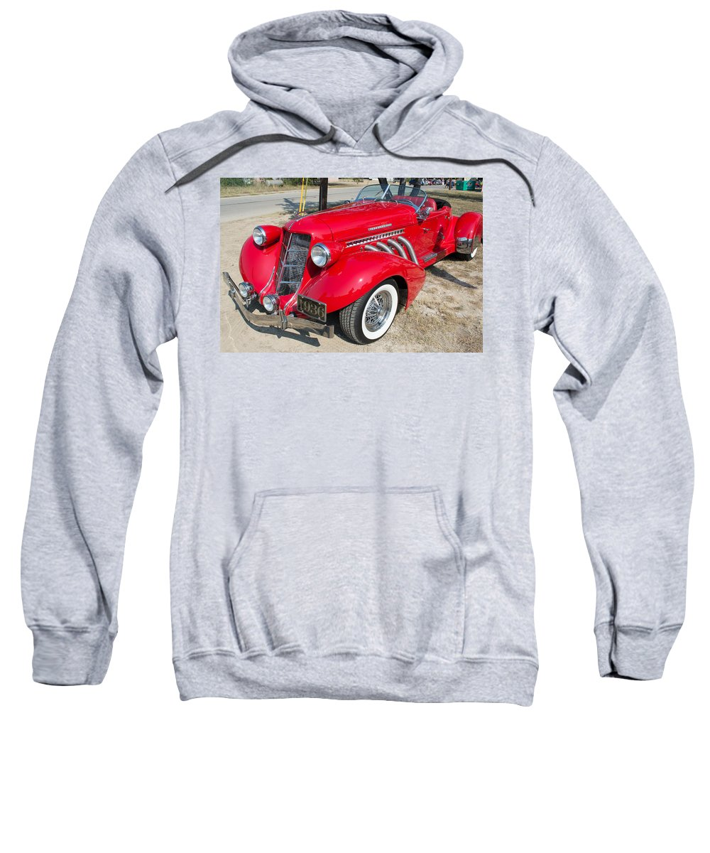 Leander Sweatshirt featuring the photograph Auburn Speedster by JG Thompson