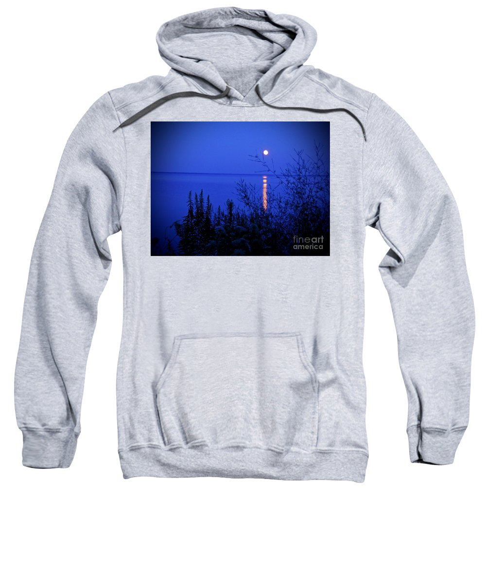 Moon Sweatshirt featuring the photograph August Moonrise by Desiree Paquette