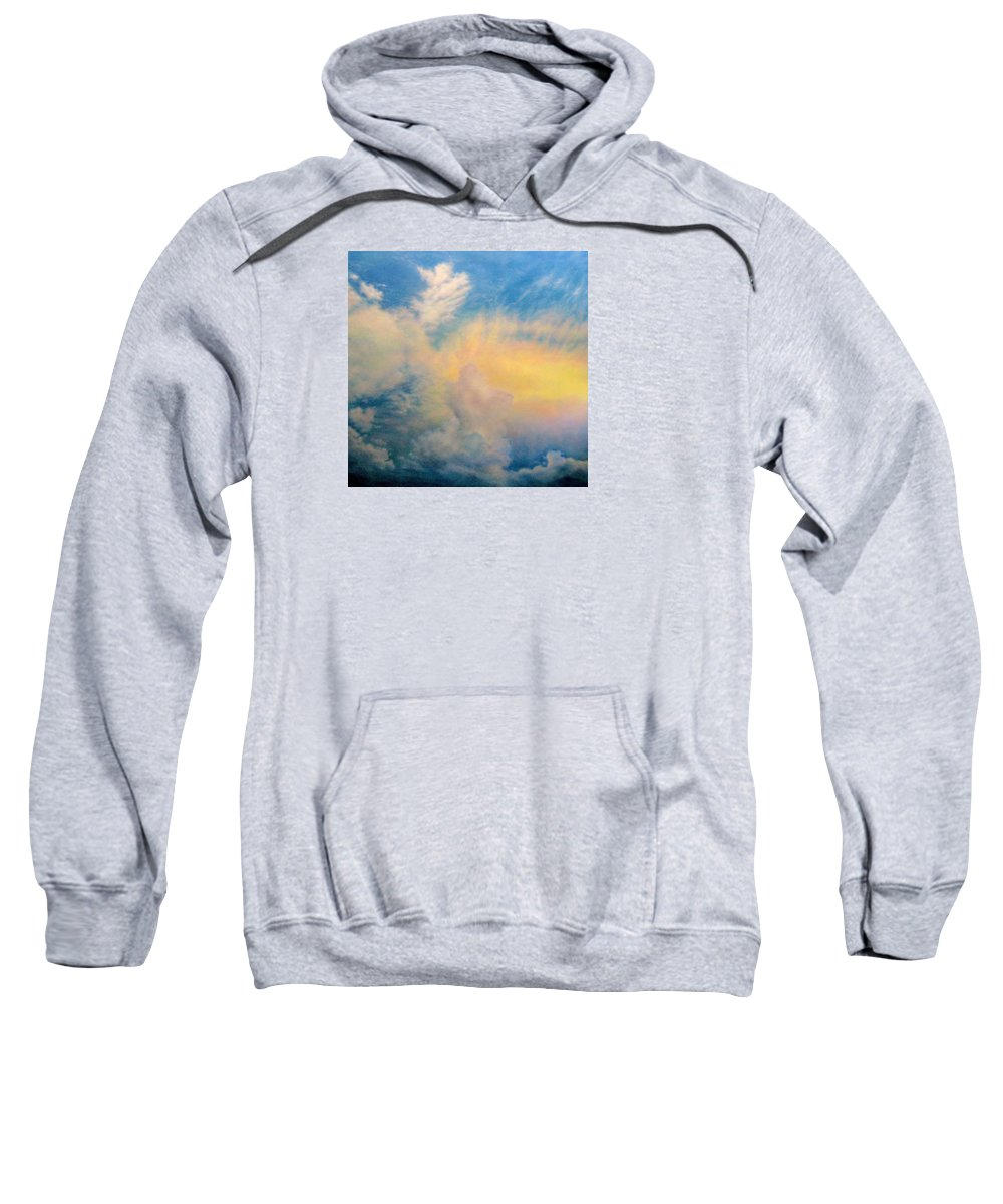 Sky Sweatshirt featuring the painting Evening Sky by Mary Taglieri