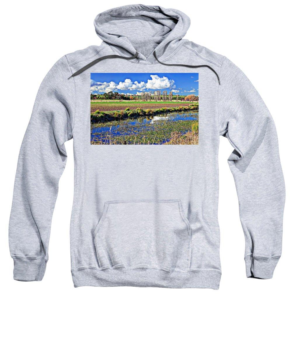 New Sweatshirt featuring the photograph Australian Landscape by Anthony Dezenzio
