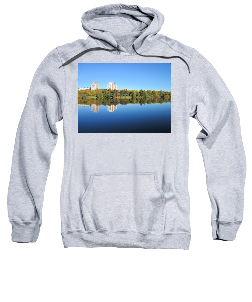 Nobody Sweatshirt featuring the photograph Autumn By The Triangle Lake In Stockholm by Rosita Larsson