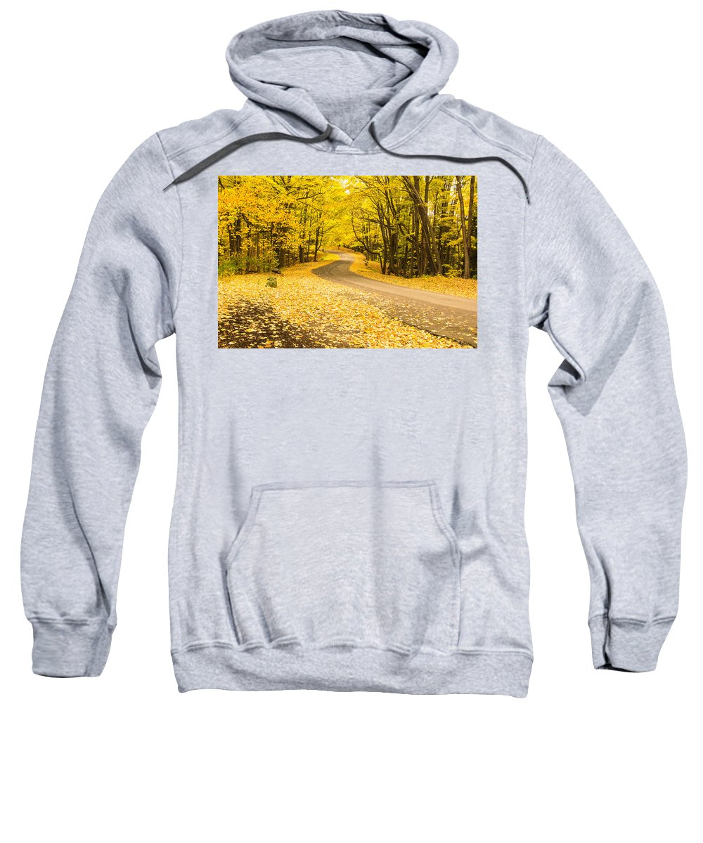 Autumn Sweatshirt featuring the photograph Autumn Colors by Lou Cardinale