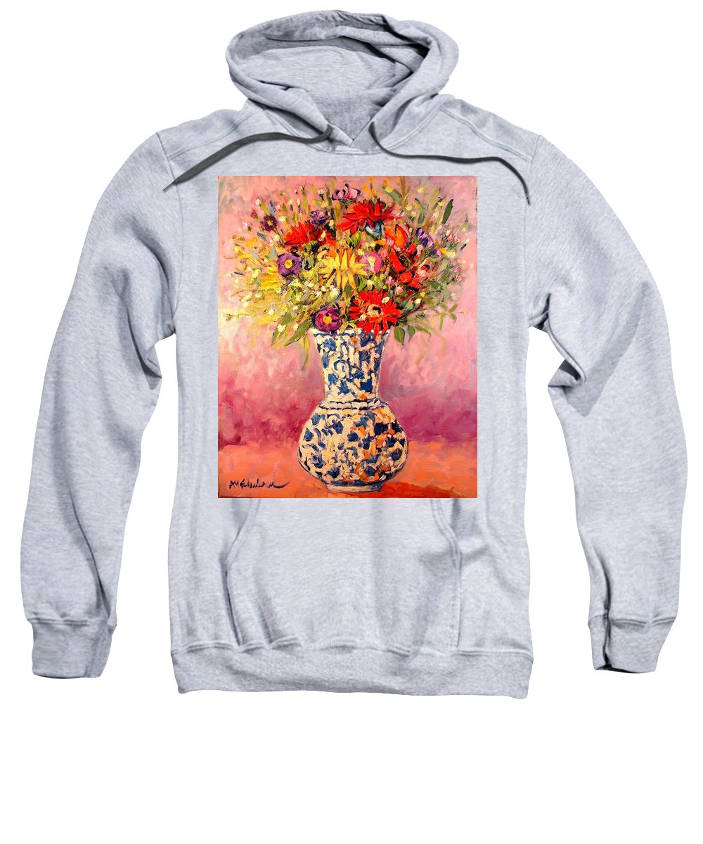 Flowers Sweatshirt featuring the painting Autumn Flowers by Ana Maria Edulescu
