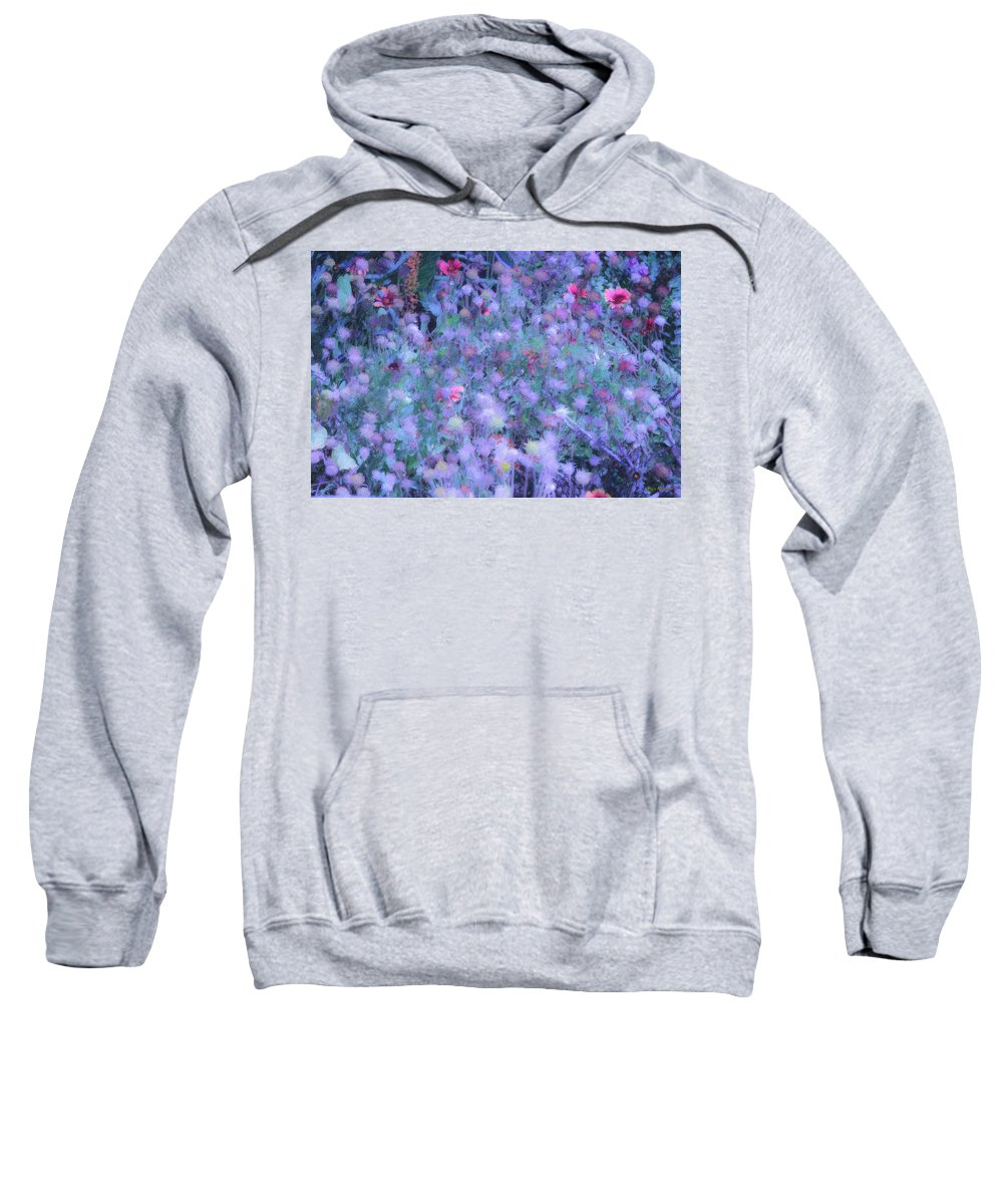 Blue Sweatshirt featuring the photograph Autumn Flowers In Blue by Angela Stanton