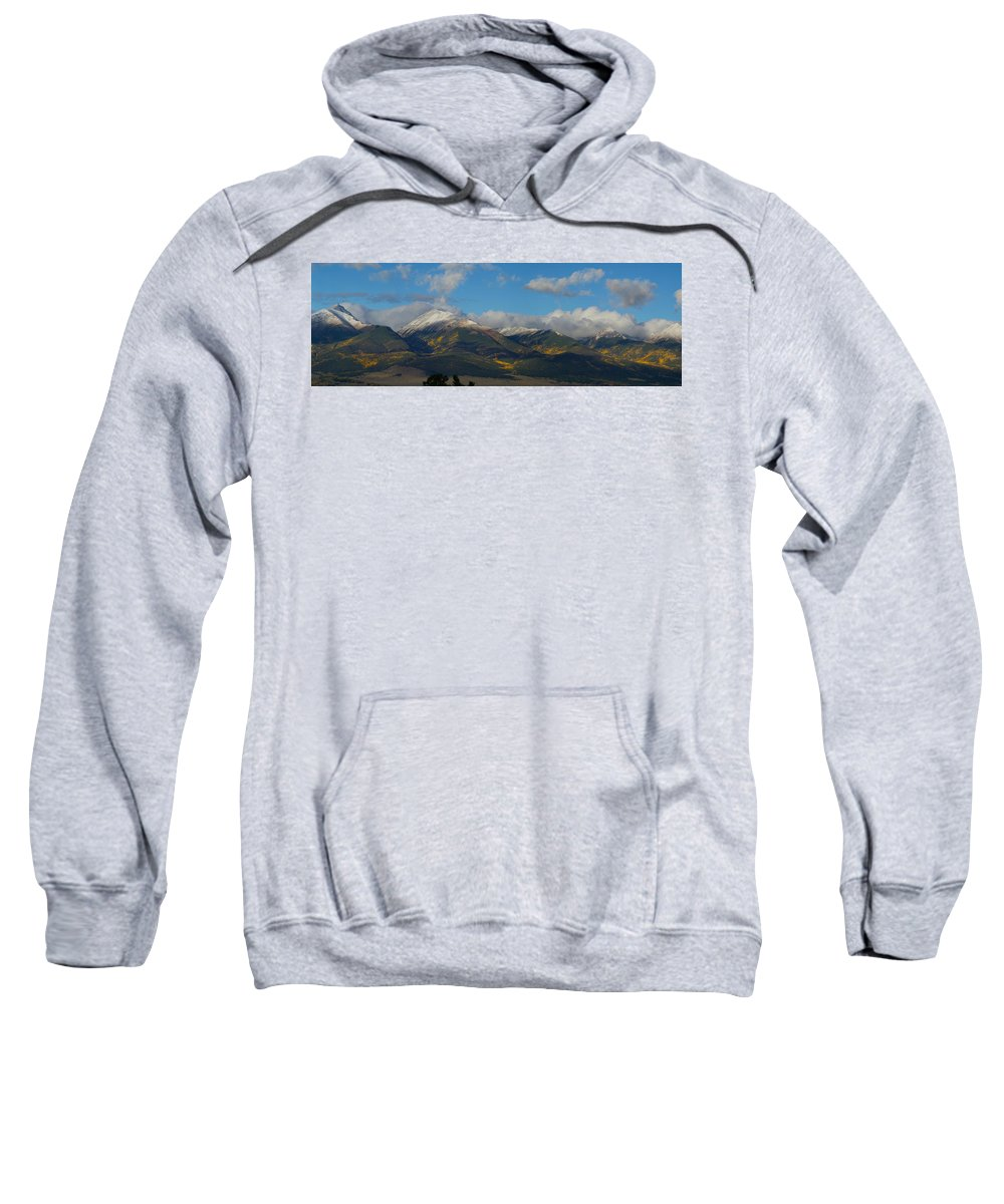 Colorado Photographs Sweatshirt featuring the photograph Autumn In The Sangres by Gary Benson