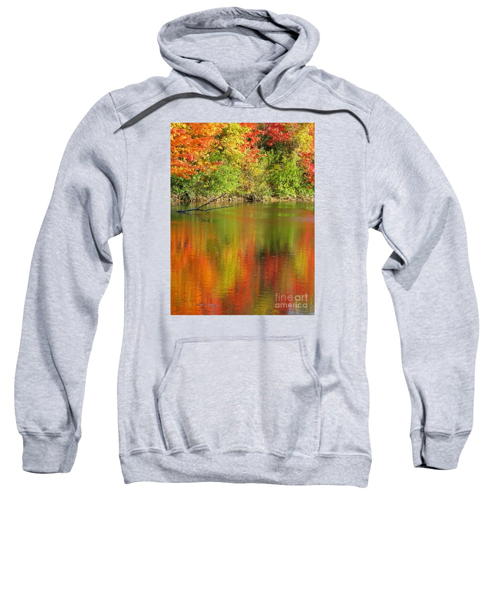 Autumn Sweatshirt featuring the photograph Autumn Iridescence by Ann Horn