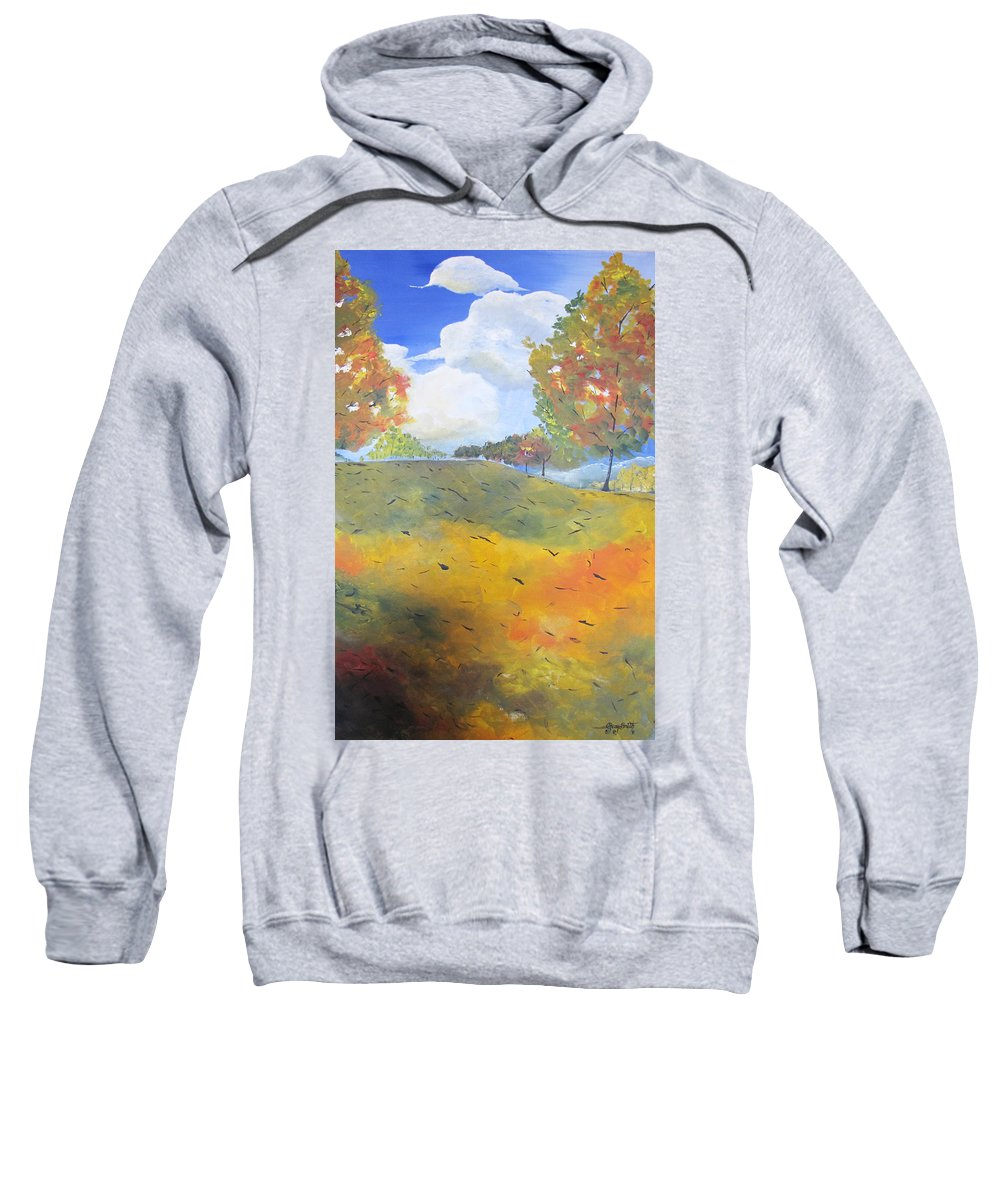 Acrylic Sweatshirt featuring the painting Autumn Leaves Panel 2 Of 2 by Gary Smith