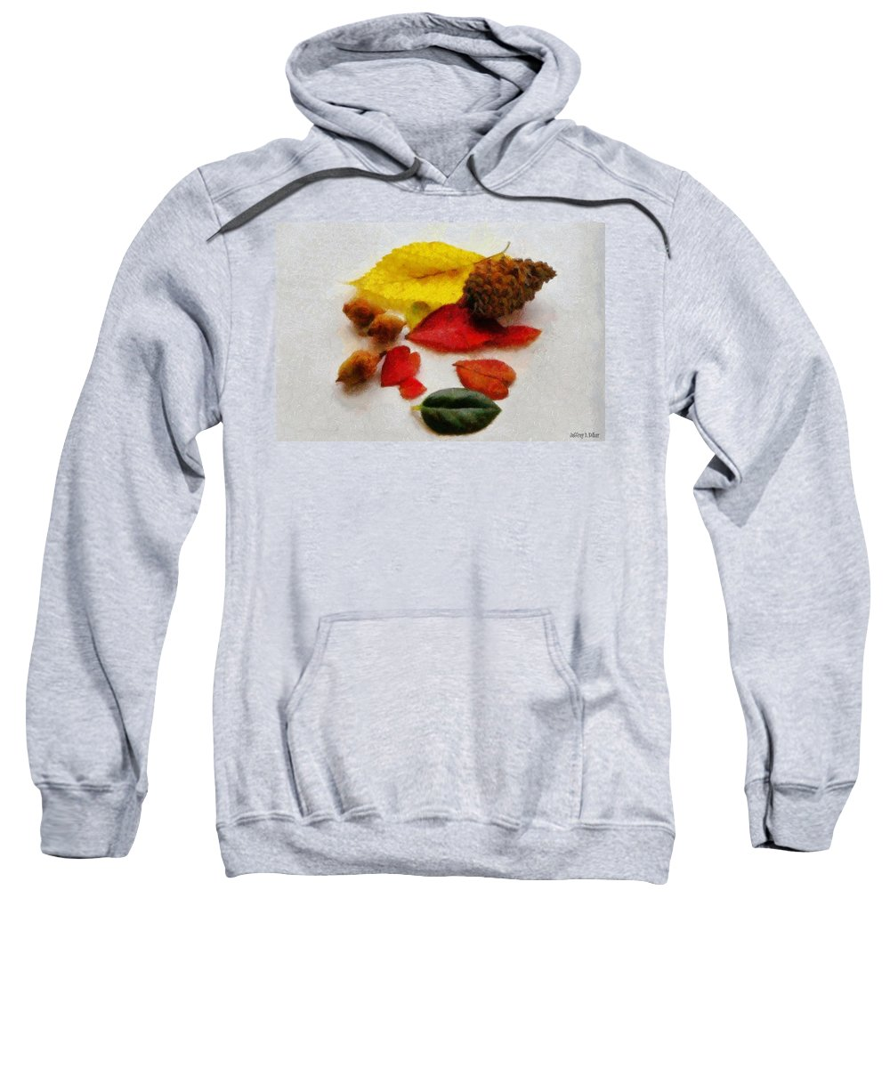 Acorn Sweatshirt featuring the painting Autumn Medley by Jeffrey Kolker