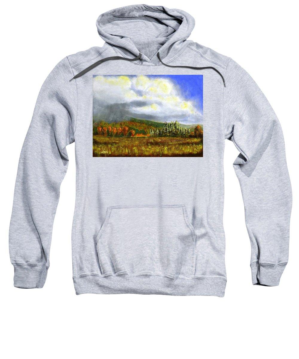 Art Sweatshirt featuring the painting Autumn Rain by Brett Winn