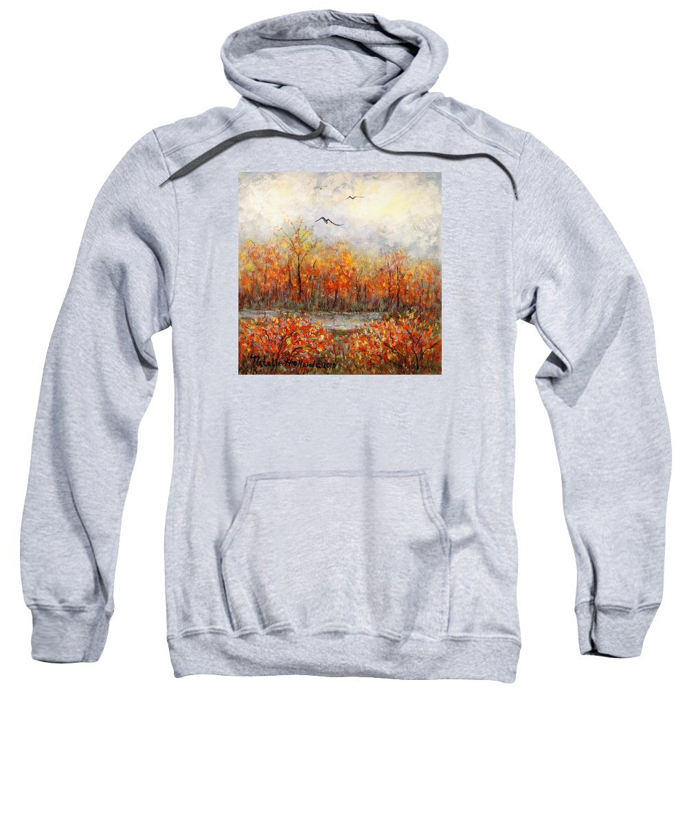 Landscapes Sweatshirt featuring the painting Autumn Song by Natalie Holland