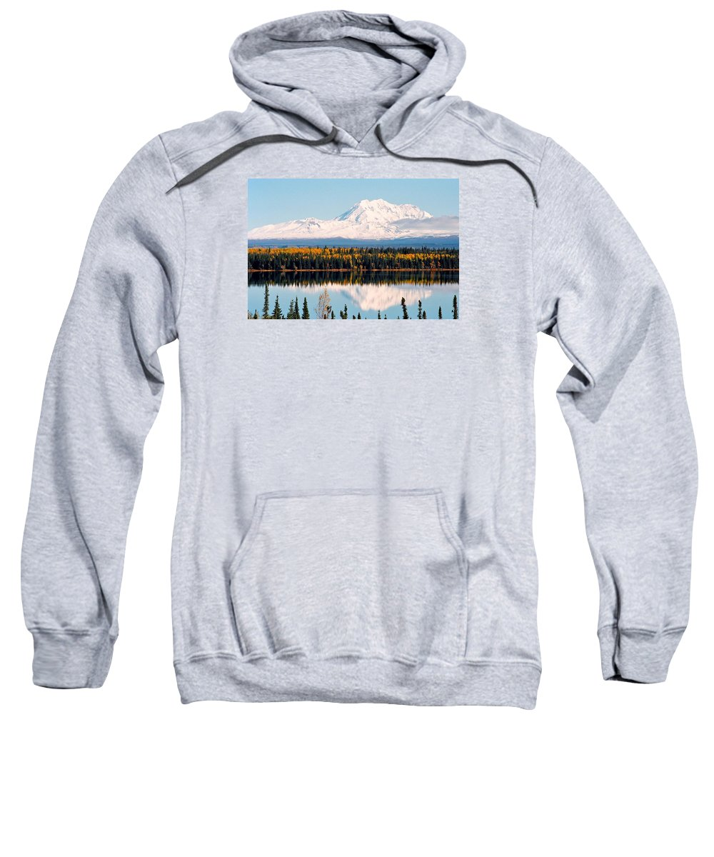 Alaska Sweatshirt featuring the photograph Autumn View Of Mt. Drum - Alaska by Juergen Weiss