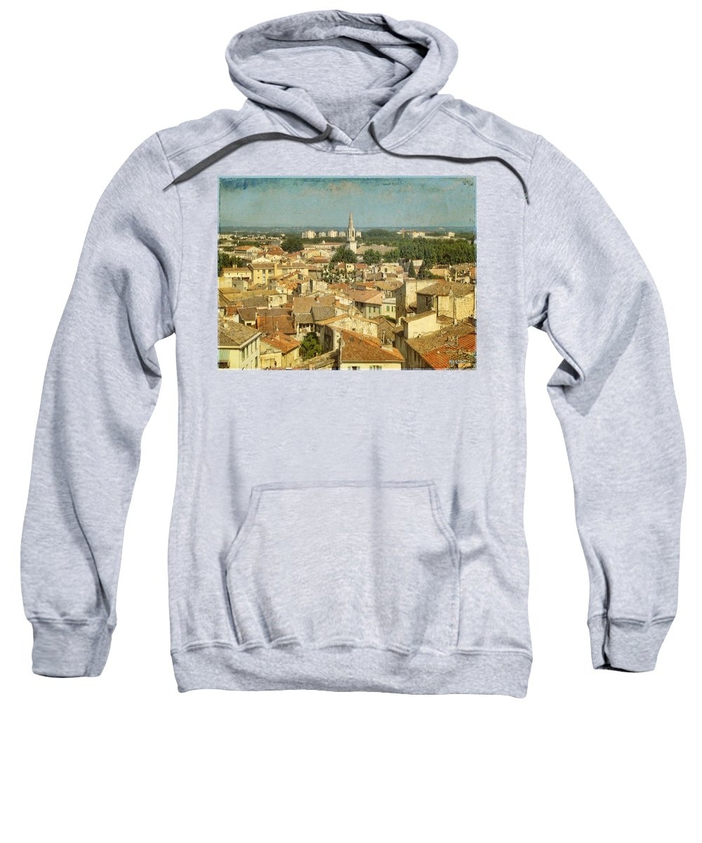 Wright Sweatshirt featuring the photograph Avignon From Les Roches by Paulette B Wright