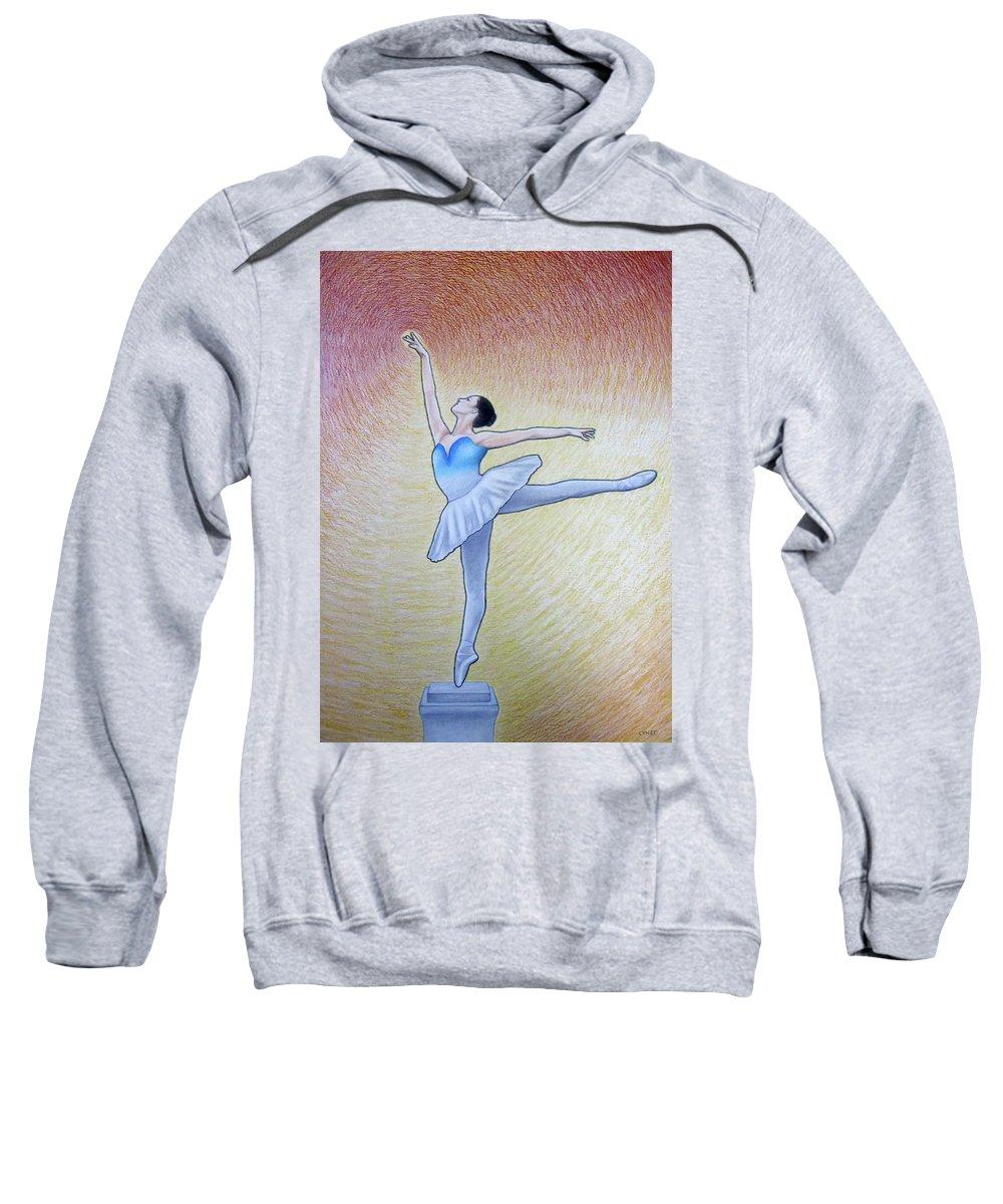 Awakening Sweatshirt featuring the painting Awakening by Lynet McDonald